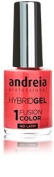 Andreia Hybrid Gel - 2 Steps and No Lamp Required Long Lasting and Easy Removal - Fusion Colour H50