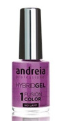 Andreia Hybrid Gel - 2 Steps and No Lamp Required Long Lasting and Easy Removal - Fusion Colour H52