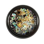 Prevently Brand New Mixed Colour Shining Tears Rhinestones Nail Art Decoration Diamond Jewellery Nail Care