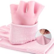 Frcolor Cotton Moisturising Gloves Half Finger Heals Dry Skin and Cracked Hands Reusable Moisturising Gloves