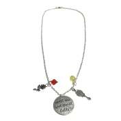Until The Last Petal Falls Necklace Beauty And The Beast Bangle Charm Enchanted