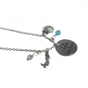 I'm Really A Mermaid Charm Necklace Little Silver Jewellery Pendant Seashell Ocean