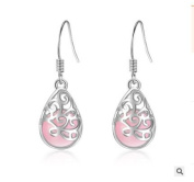"""Emma Manor """"The Tree of Love"""" Engraved Hollow Water Drop Earring For Women"""