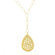 Simply Gold Caged Teardrop Necklace in 14kt Gold