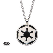 Star Wars Galactic Empire Symbol Stainless Steel Pendant Necklace w/Gift Box by Superheroes Brand