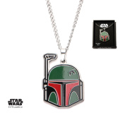 Star Wars Boba Fett Stainless Steel Pendant Necklace w/Gift Box by Superheroes Brand