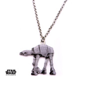 Star Wars At-At Walker Stainless Steel Pendant Necklace w/Gift Box by Superheroes Brand