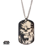Star Wars Chewbacca Dog Tag Stainless Steel Pendant Necklace w/Gift Box by Superheroes Brand