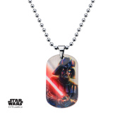 Star Wars Darth Vader Dog Tag Stainless Steel Pendant Necklace w/Gift Box by Superheroes Brand