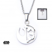 Star Wars Rebel Alliance/Galactic Empire Stainless Steel Pendant Necklace w/Gift Box by Superheroes Brand