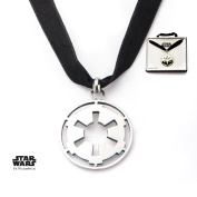 Star Wars Galactic Empire Symbol Stainless Steel Pendant Choker Necklace w/Gift Box by Superheroes Brand