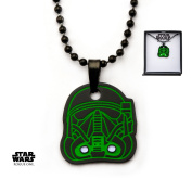 Star Wars Rogue One Death Trooper Stainless Steel Pendant Necklace w/Gift Box by Superheroes Brand