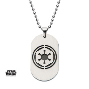 Star Wars Galactic Empire Dog Tag Stainless Steel Pendant Necklace w/Gift Box by Superheroes Brand