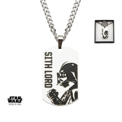 Star Wars Darth Vader Sith Lord Dog Tag Stainless Steel Pendant Necklace w/Gift Box by Superheroes Brand