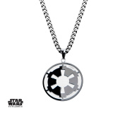 Star Wars Death Star & Galactic Empire Stainless Steel Pendant Necklace w/Gift Box by Superheroes Brand