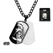 Star Wars Darth Vader Layered Dog Tag Stainless Steel Pendant Necklace w/Gift Box by Superheroes Brand