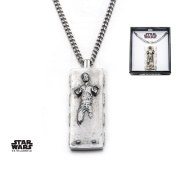 Star Wars Han Solo Carbonite Stainless Steel Pendant Necklace w/Gift Box by Superheroes Brand