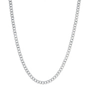 Silver-Tone Stainless Steel Curb 80cm Necklace