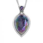 Sajen Snow Druzy Pendant Necklace in Sterling Silver