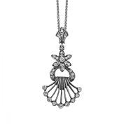 Van Kempen Victorian Crystals Pendant Necklace in Sterling Silver