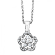 Van Kempen Art Nouveau Pendant Necklace with Crystals in Sterling Silver