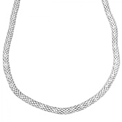 Puffed Popcorn Chain Necklace in Sterling Silver