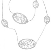 Oval Cut-Out Station Necklace in Sterling Silver