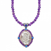 Sajen Snow Druzy, Royal Quartz & Amethyst Necklace in Sterling Silver