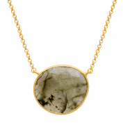 Piara 14 ct Natural Laboradorite Necklace in 18kt Gold-Plated Sterling Silver