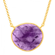 Piara 13 ct Natural Amethyst Necklace in 18kt Gold-Plated Sterling Silver