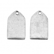 Nunn Design Antiqued Silver Plated Mini Flat Tag Pendant 10x17mm