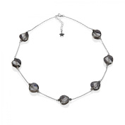 Aya Azrielant Slate Crystals Station Necklace in Sterling Silver