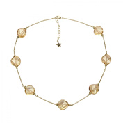 Aya Azrielant Necklace with Crystals in 18kt Gold-Plated Sterling Silver