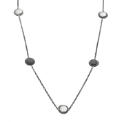 Aya Azrielant Reversible Station Necklace with Jet Black & White Crystals in Sterling Silver
