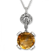 Evert deGraeve 6 ct Citrine Pendant Necklace in Sterling Silver