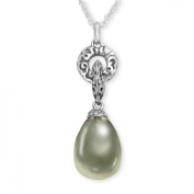 Evert deGraeve 8 3/4 ct Green Amethyst Pendant Necklace with Diamonds in Sterling Silver