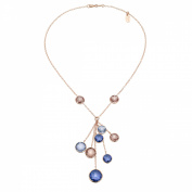 Zoccai 925 Amethyst & Rhodolite Necklace in Rose Gold-Toned Sterling Silver