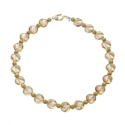 Aya Azrielant Crystals Bead Necklace in 18kt Gold-Plated Sterling Silver