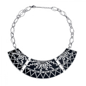 Cristina Sabatini Scroll Plate Necklace in Sterling Silver
