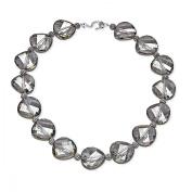 Aya Azrielant Crystals Bead Necklace in Sterling Silver