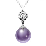 Evert deGraeve 15 ct Pink Amethyst & White Sapphire Pendant Necklace in Sterling Silver