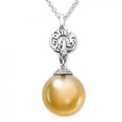 Evert deGraeve 15 ct Citrine & White Sapphire Pendant Necklace in Sterling Silver