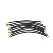 10Pcs 26cm Length Universal Car Battery Inverter Wire Power Transfer Cable Black