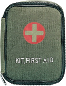 Olive Drab - Military Zipper First Aid Pouch with No Contents