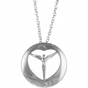 Lavaggi Jewellery Sterling Silver Circle Of Love Pendant Necklace, 46cm Chain