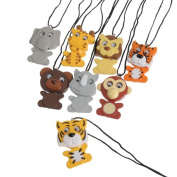 WIGGLING WILD ANIMAL NECKLACES, SOLD BY 10 DOZENS