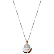 5th & Main Sterling Silver and 14kt Rose Gold-Plated Rose Trillium Flower Pendant