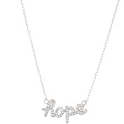 Lesa Michele Cubic Zirconia Sterling Silver HOPE Necklace