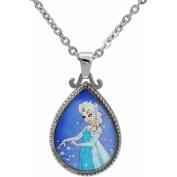 Disney Stainless Steel Frozen Elsa Pendant, 46cm Chain