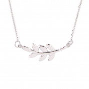 Sterling Silver Leaf Pendent Necklace